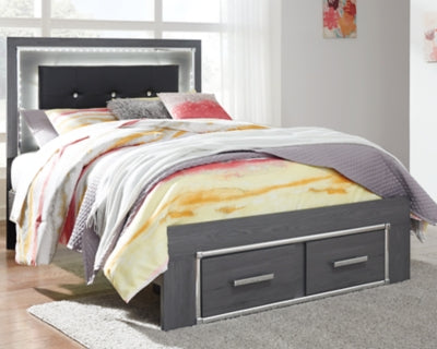 Lodanna Signature Design by Ashley Bed with 2 Storage Drawers