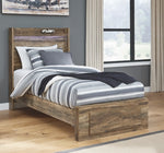 Rusthaven Signature Design by Ashley Bed with Storage Drawer