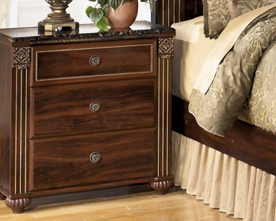 Gabriela Signature Design by Ashley Three Drawer Nightstand