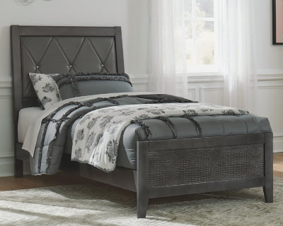 Delmar Benchcraft Twin Upholstered Panel Bed