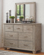 Naydell Benchcraft Dresser and Mirror
