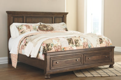 Flynnter Signature Design by Ashley King Panel Bed with 2 Storage Drawers