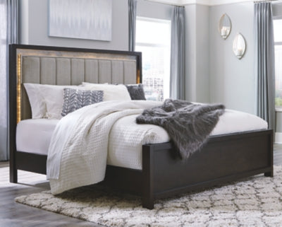 Maretto Signature Design by Ashley California King Upholstered Panel Bed
