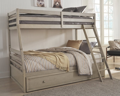 Lettner Signature Design by Ashley Twin over Full Bunk Bed with 1 Large Storage Drawer