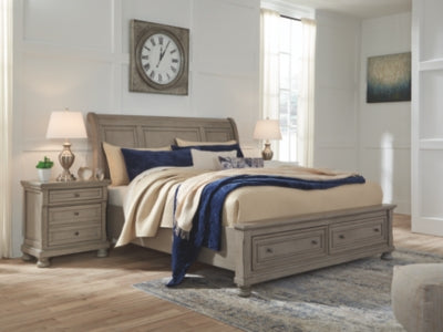 Lettner Signature Design by Ashley Bed with 2 Storage Drawers