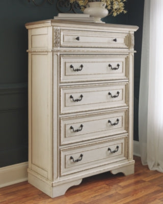 Realyn Signature Design by Ashley Five Drawer Chest