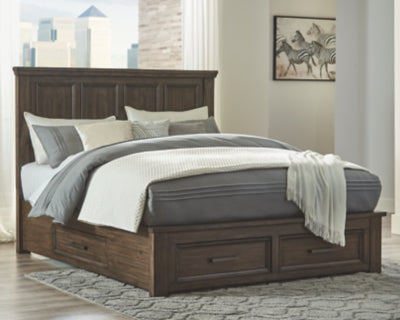 Johurst Signature Design by Ashley California King Panel Bed with 4 Storage Drawers