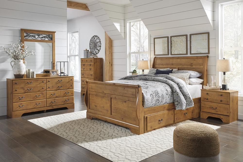Bittersweet Sleigh Bed Signature Design 5-Piece Bedroom Set with 2 Storage Drawers