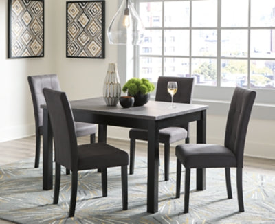 Garvine Signature Design by Ashley RECT DRM Table Set 5CN