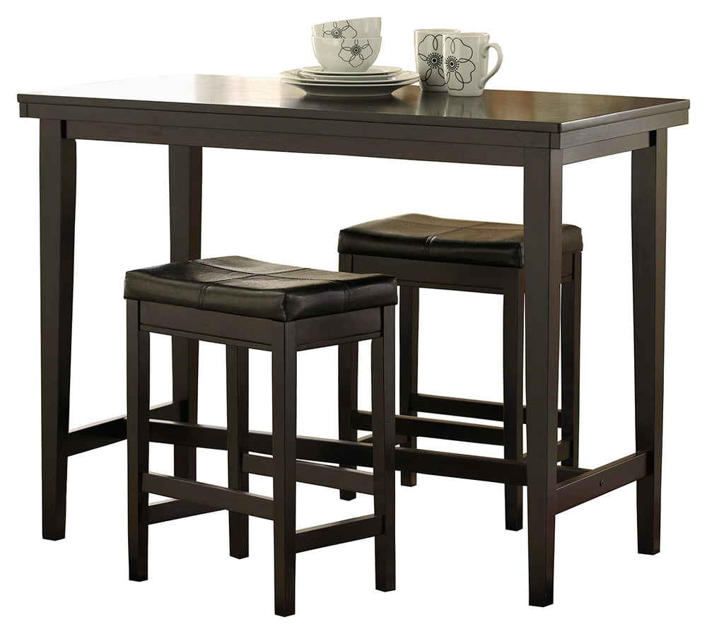 Kimonte Signature Design 3-Piece Counter Height Dining Room Package