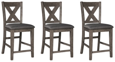 Caitbrook  Dining Room Counter Height Bar Stool Set of 3