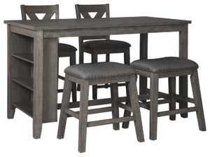 Load image into Gallery viewer, Caitbrook Signature Design Counter Height 5-Piece Dining Room Set