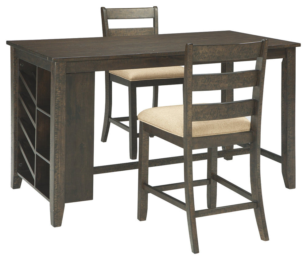 Rokane Signature Design 3-Piece Counter Height Dining Room Package