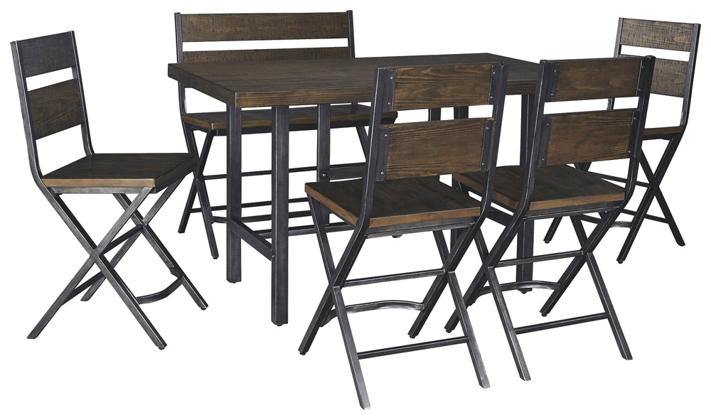Kavara Signature Design 6-Piece Counter Height Dining Room Package