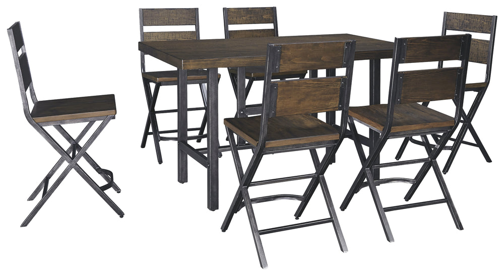Kavara Signature Design 7-Piece Counter Height Dining Room Package