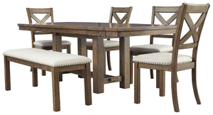 Moriville Signature Design 6-Piece Dining Room Package