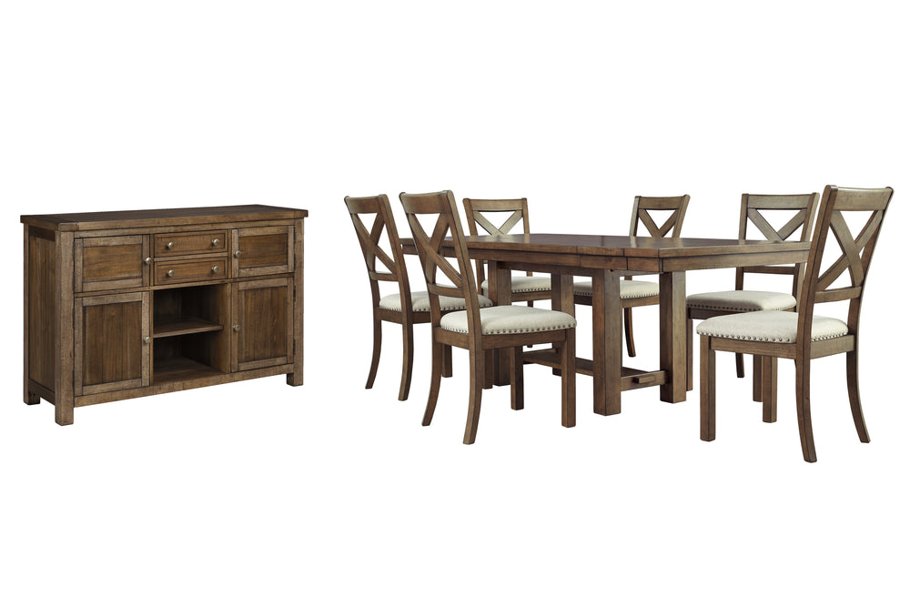 Moriville Signature Design 8-Piece Dining Room Package