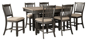 Tyler Creek Signature Design 7-Piece Counter Height Dining Room Package