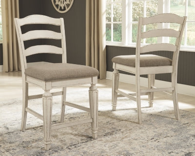 Realyn Signature Design by Ashley Upholstered Barstool 2CN