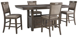 Load image into Gallery viewer, Johurst Benchcraft 5-Piece Dining Room Set
