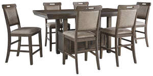 Johurst Benchcraft 7-Piece Counter Height Dining Room Package