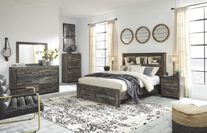 Drystan Bookcase Bed Signature Design 5-Piece Bedroom Set with 2 Storage Drawers