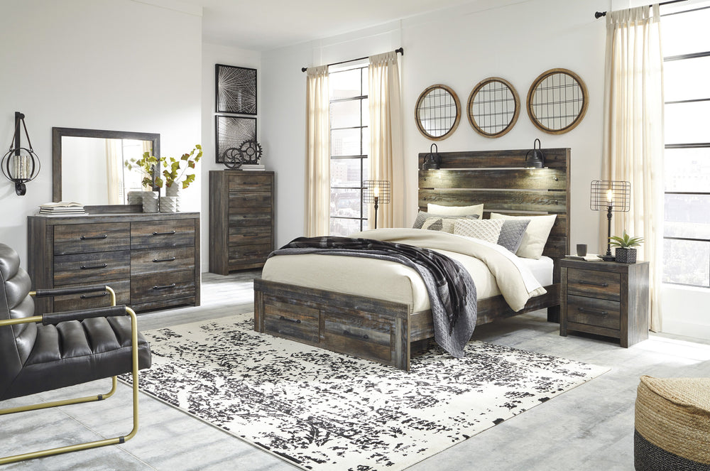 Drystan Panel Bed Signature Design 5-Piece Bedroom Set with Storage