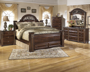 Gabriela Signature Design 5-Piece Bedroom Set with 2 Storage Drawers