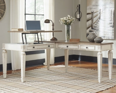 Realyn Signature Design by Ashley 2-Piece Home Office Desk