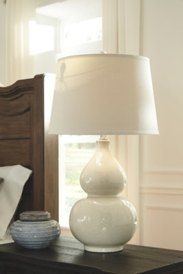 Load image into Gallery viewer, Saffi Signature Design by Ashley Table Lamp