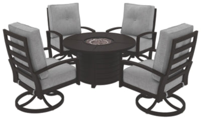 Castle Island Signature Design 5-Piece Outdoor Fire Pit Set
