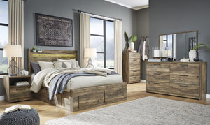 Rusthaven Signature Design 5-Piece Bedroom Set with 6 Storage Drawers