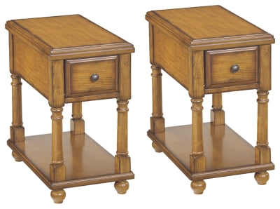 Breegin Signature Design Brown 2-Piece End Table Set