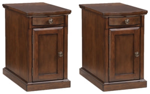 Load image into Gallery viewer, Laflorn Medium Brown Signature Design 2-Piece End Table Set