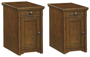 Laflorn Dark Brown Signature Design 2-Piece End Table Set