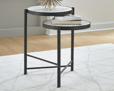 Plannore Signature Design by Ashley Round End Table