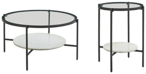 Load image into Gallery viewer, Zalany Signature Design 2-Piece Table Set