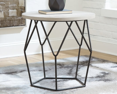 Waylowe Signature Design by Ashley Round End Table