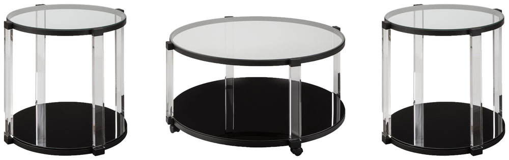 Delsiny Signature Design 3-Piece Occasional Table Package