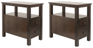 Marion Signature Design Chair Side 2-Piece End Table Set