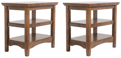 Cross Island Signature Design Chair Side 2-Piece End Table Set