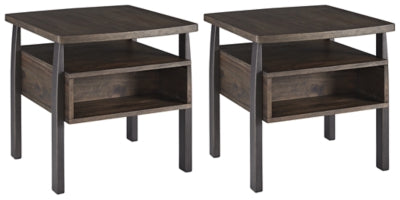 Vailbry Signature Design 2-Piece End Table Set