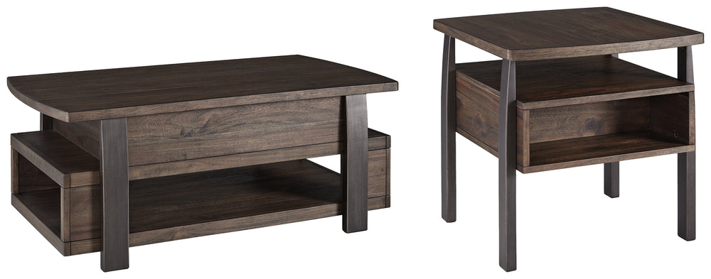 Vailbry Signature Design 2-Piece Table Set