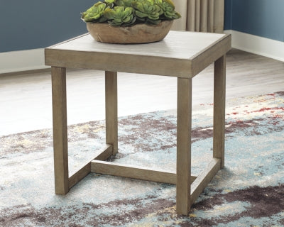 Challene Signature Design by Ashley Square End Table
