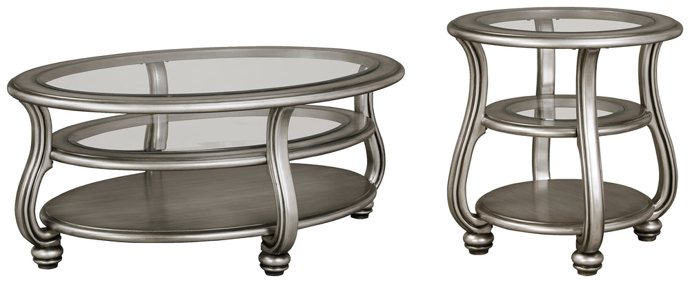 Load image into Gallery viewer, Coralayne Signature Design 2-Piece Table Set