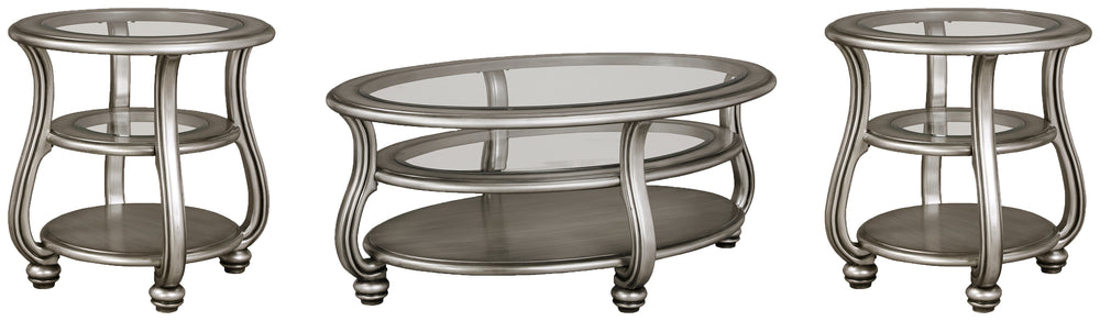Coralayne Signature Design 3-Piece Occasional Table Set