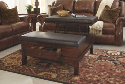 Gately Signature Design by Ashley Cocktail Table Ottoman