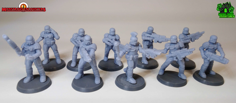 Imperial Arbiters with Lasrifles