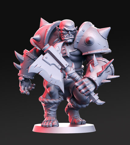 Orktar- Orc Chieftain- 32mm - DnD