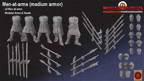 Breton Men-at-Arms with Medium Armour (Modular)